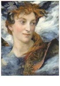 Edgar Maxence (1871-1954) -Tete de divinite -Hoofd van een godheid- Postcard