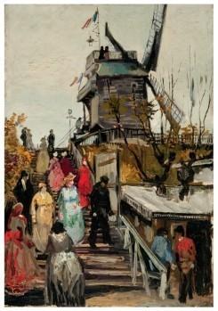 Vincent van Gogh (1853-1890) -De molen Le blute-fin,1886- Postcard