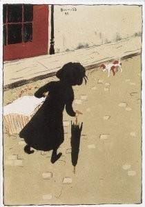 Pierre Bonnard (1867-1947) -La petite blanchisseuse- Postcard