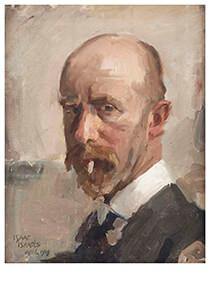 Isaac Israels (1865-1934) -Zelfportret Met Sigaret- Postcard