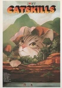 Milton Glaser (1929) -Catskills, poster: New York- Postcard