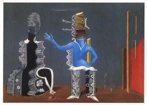 Max Ernst (1891-1976) -Het paar, 1923- Postcard