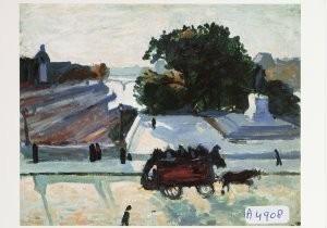 Albert Marquet (1875-1947) -De Pont-Neuf in de zon, 1906- Postcard