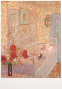 Jan Sluijters (1881-1957) -Kinderslaapkamer, 1910- Postcard
