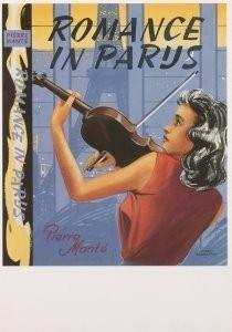 Hans Borrebach (1903-1991) -Romance in Parijs, geschreven door Pierre Mante- Postcard