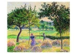 Camille Pissarro (1830-1903) -Bountiful Harvest- Postcard