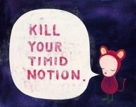 Yoshitomo Nara (1959) -Kill your Timid Notion- Postcard