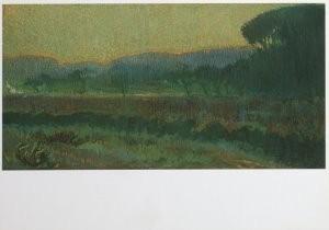 Leo Gestel (1881-1941) -Vallei met geboomte - Wooded valley, ca. 1910- Postcard