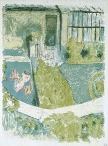 Edouard Vuillard (1868-1940) -le jardin- Postcard