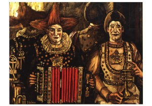 J. Gutierrez-Solana (1886-1945-Clowns- Postcard