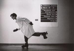 Tim Smith -Rollerskating doctor- Postcard