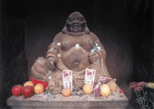 Thomas Haltner -Macau Money Buddha- Postcard