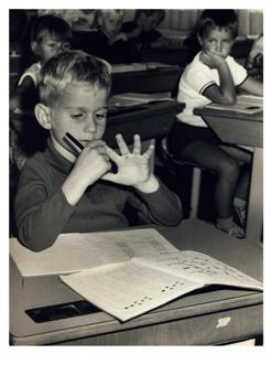 Anoniem, -Leren rekenen, circa 1970- Postcard