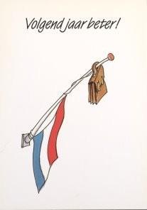 Tjalf Sparnaay (1954) -Sparnaay/Volgend Jaar Beter 11- Postcard