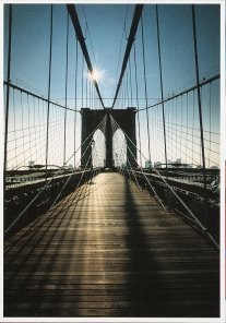 Martin Kers (1944) -Kers/ Brooklyn Bridge- Postcard
