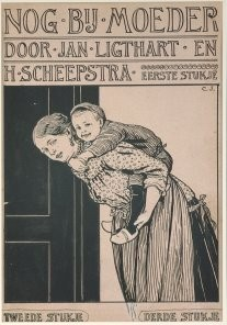 Cornelis Jetses (1873-1955) -Nog bij moeder thuis- Postcard