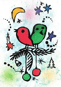 Carmen Berck -Vogels.- Postcard