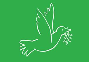 Muriel de Crayencour -Green Peace- Postcard