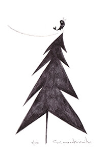 Simona Dimitri -Christmas tree- Postcard