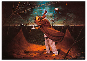 Teun Hocks (1947) -Hocks/ Heen en weer/Torch- Postcard