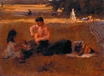 Isaac Israels (1865-1934) -Picknick in het bos- Poster