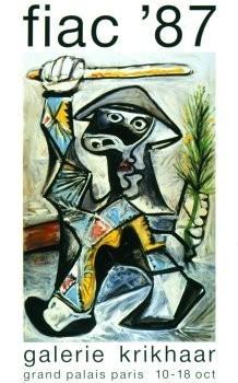 Pablo Picasso (1881-1973) -Arlequin- Poster