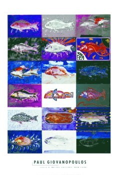 Paul Giovanopoulos (1939) -Giovanopoulos/Fish'A'/62*91- Poster