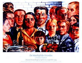 Charley Toorop (1891-1955) -C.Toorop/Maaltijd der Vrienden- Poster