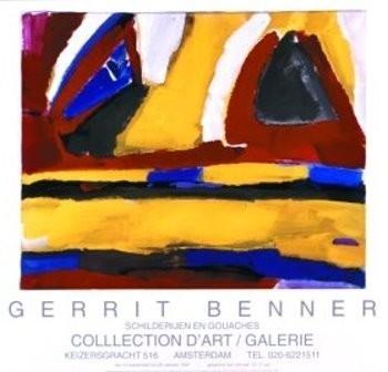 Gerrit Benner (1897-1981) -Rode wolken- Poster