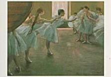 Edgar Degas (1834-1917) -Les Danseuses- Notecard