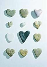 Letizia Volpi -Hearts of stone- Notecard