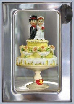 Rolf Unger -The Wedding Cake automatiek a typical Dutch vendin- Notecard