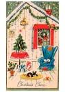 A.N.B.  -  Huiskamer met kerstversiering - Postcard -  1C0397-1