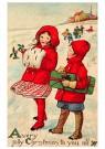 A.N.B.  -  Kinderen lopen door de sneeuw - Postcard -  1C0564-1