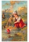 A.N.B.  -  Meisje vindt een paasei - Postcard -  1C0722-1
