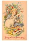 A.N.B.  -  Meisje met haas en paaseieren - Postcard -  1C0747-1