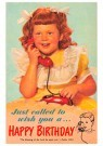 A.N.B.  -  Just called to wish you a happy birthday - Postcard -  1C1066-1