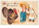 Anonymous  -  Wishing you a happy thanksgiving - Postcard -  1C1644-1