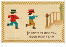 A.N.B.  -  In haste to wish you good new year - Postcard -  1C1653-1