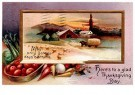 A.N.B.  -  Here's to a glad Thanksgiving day - Postcard -  1C1682-1