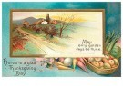 A.N.B.  -  Here's to a glad Thanksgiving day - Postcard -  1C1696-1