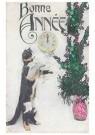 A.N.B.  -  Kat bij een plant (gelukkig nieuwjaar) - Postcard -  1C2204-1