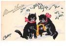 A.N.B.  -  Drie katjes in de sneeuw (gelukkig nieuwjaar) - Postcard -  1C2205-1