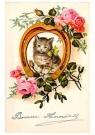 A.N.B.  -  Katje in een hoefijzer (gelukkig nieuwjaar) - Postcard -  1C2206-1
