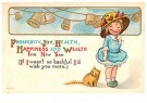 Anonymous  -  Happiness and wealth this new year - Postcard -  1C2237-1