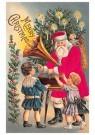 A.N.B.  -  Kerstman met een platenspeler bij twee kinderen - Postcard -  1C2292-1