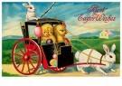 A.N.B.  -  Twee kuikens in een wagen gereden door paashaasjes - Postcard -  1C2432-1