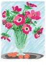 L. Teding van Berkhout (1948)  -  Anemonen op tinnen schotel - Postcard -  2C0008-1