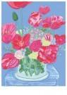 L. Teding van Berkhout (1948)  -  Rood/Roze boeket - Postcard -  2C0669-1