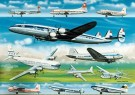 Thijs Postma (1933)  -  Airliners of the fifies - Postcard -  2C0742-1